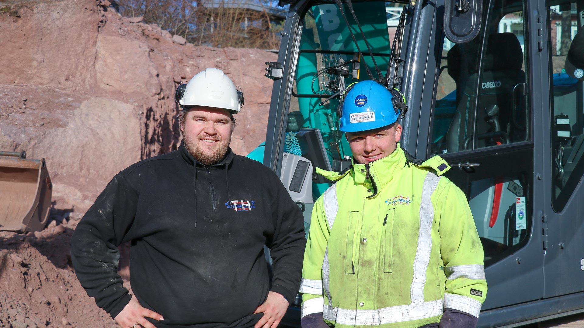 Magnus Aas (t.v.) og Karsten Aarvold (t.h.)fra Tore Haraldstad & Co